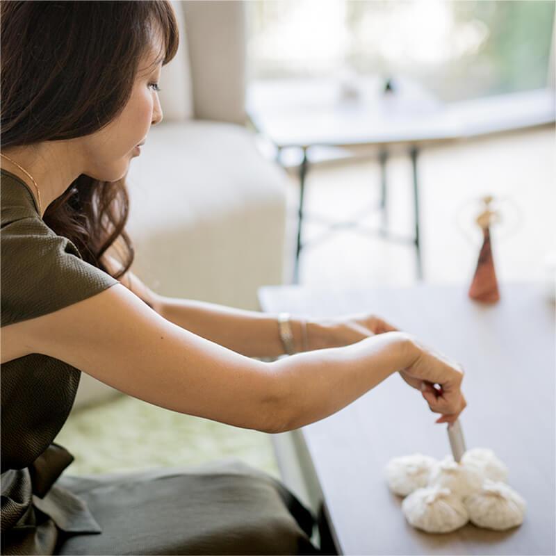 手順1クリスタルチューナーで水晶お手玉にコマンドをかけます。